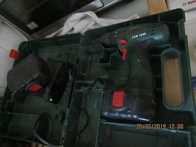 Bosch 12v cordless drill with two batteries and charger in GWO