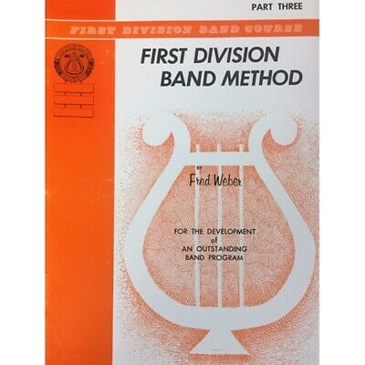 First Division Band Method Part 3 - TENOR SAX  New Old Stock