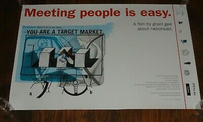 "RADIOHEAD Meeting People is Easy original promo film poster 20"" x 30"" 1999"