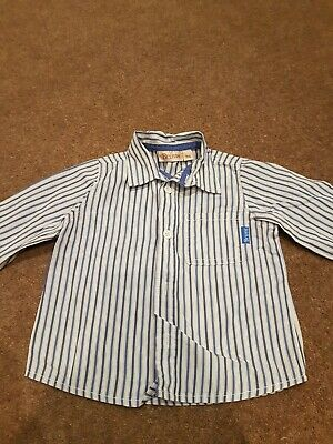Brums Striped Baby Boys Shirt Age 9 Months