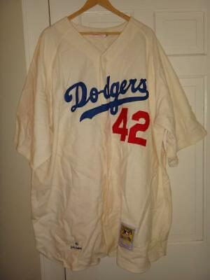designer fashion 6ca50 a984a JACKIE ROBINSON 1955 Brooklyn Dodgers Mitchell & Ness Authentic Jersey 64  (5XL)