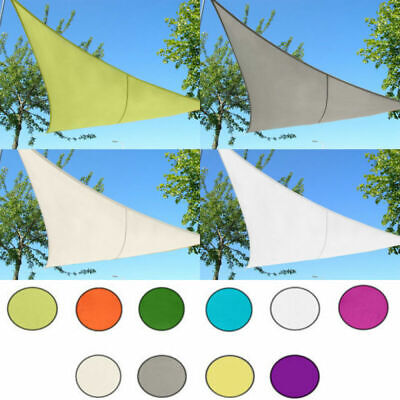 Triangle Sun Shade Sail Canopy Sunscreen Patio Garden 98% UV Block Outdoor Home