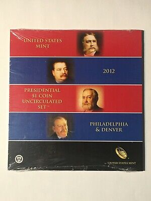 2012 Us Mint Presidential $1 Coin Uncirculated Set - Mint Sealed - Key Date