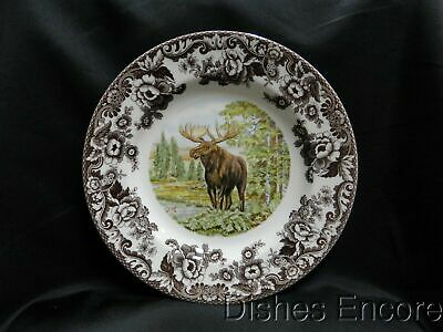 "Spode Woodland Majestic Moose, England: Dinner Plate (s), 10 3/4"", NEW w/ Box"