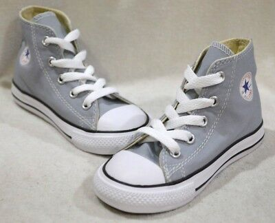 1bc364fd5bb0 Converse Toddler Boy Girl s CTAS Wolf Grey High-Top Sneakers-Size 6