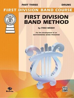 First Division Band Method Part 3 - DRUMS New old Stock