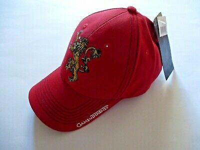 Game of Thrones Lannister HBO TV Show  Red Hat Baseball Cap Curved Bill 2014