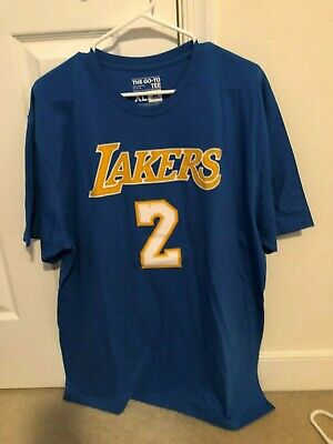 51abfefda LOS ANGELES LAKERS Lonzo Ball UCLA Adidas blue shirt XL men NBA ...
