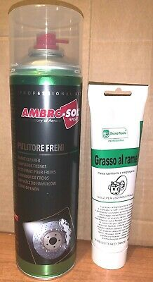 Grasso al rame per freni da 150ml + Pulitore Freni da 500ml spray