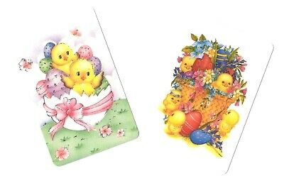 Swap Card -  Blank Back ~ Chicks  Eggs Easter ~ 2 Cards