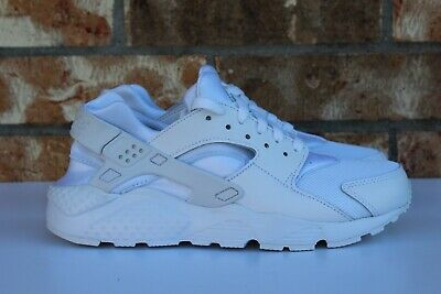 a478664a41 Nike Huarache Run GS Youth Running Shoes Triple All White Size 7Y 654275 110