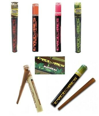 Cyclone King Size Flavoured Pre-Rolled Cone Wraps Rolling Paper Cigarette
