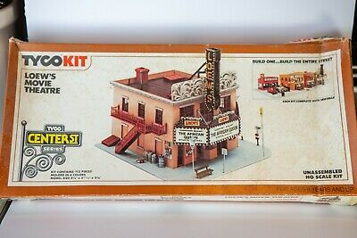 HO Scale Model Railroad Completed_Loew's Movie Theatre_ TYCO