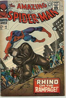 AMAZING SPIDER-MAN # 43   Beautiful Early Silver Age KEY  FN6.5