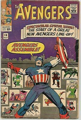 AVENGERS #16    KEY  Early Silver Age - NICE BOOK!