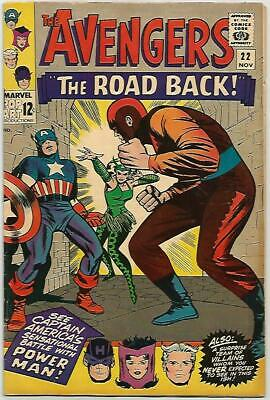 AVENGERS #22    Beautiful Early Silver Age  Nice VF8.0
