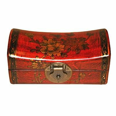 Chinese Jewellery Box - Red Hand Painted Classical Style (PS-S0R)