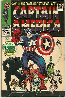 CAPTAIN AMERICA #100    Beautiful Early Silver Age KEY!