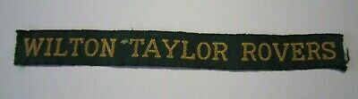 Vintage Australian Scout Badge - Wilton Taylor Rovers name tape