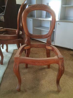 Vintage French Style Wood  Chair Frame Wooden Needs Upholstering 8 Available