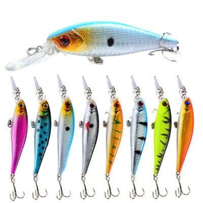 Transparent Useful Outdoor Tackle Lures Minnow Baits Fish Hooks Fishing