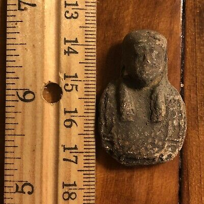 Ancient Egyptian Faience Ushabti Amulet Talisman 300 BC Mummy Pendant Artifact 3