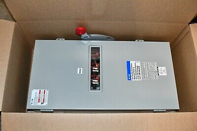 Eaton 200A 600V Heavy Duty Safety Switch 3-Pole Fusible NEMA 12 DH364NDKWV