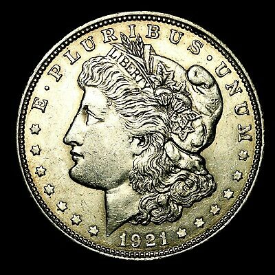 1921 D ~**ABOUT UNCIRCULATED AU**~ Silver Morgan Dollar Rare US Old Coin! #841