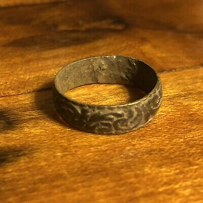 Rare Ancient Or Medieval Wedding Ring Russia Byzantine European Jewelry Artifact