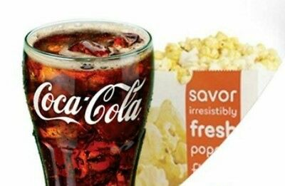 AMC Theater 1 Large Popcorn and 1 Large Fountain Drink Voucher