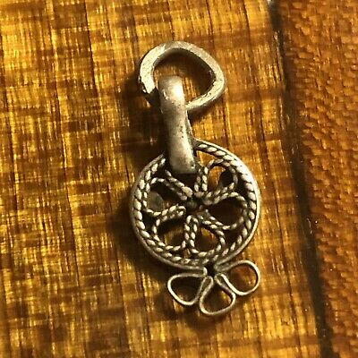 Medieval 850 Silver Pendant Charm Jewelry Ancient European Artifact Antique Old