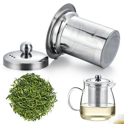 Reusable Mesh Infuser Tea Strainer Leaf Spice Filter Stainless Steel For Teapot-