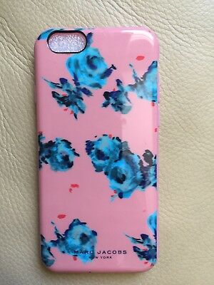 NEW! Marc Jacobs Plastic iPhone 6/6S Case, Peach Color With Blue Rose.