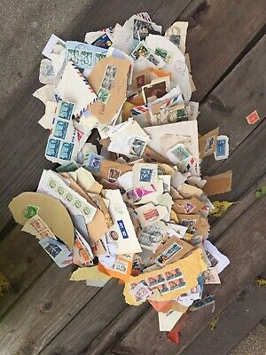 Worldwide Used On Paper Stamps Variety of Countries over 350 used stamps