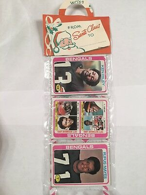 1978 Topps Football Unopened Holiday Rack Pack * Bengals Team - Riley Front