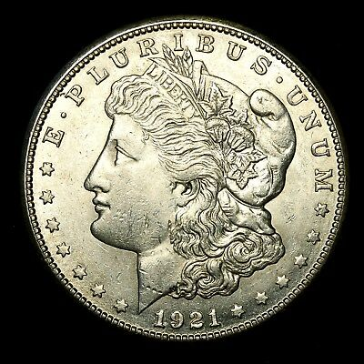 1921 S ~**ABOUT UNCIRCULATED AU**~ Silver Morgan Dollar Rare US Old Coin! #932