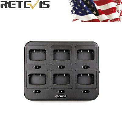 2X Retevis RTC777 Six-Way Charger for Retevis H777 Baofeng 888S Two Way Radio US