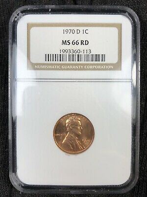 1970 D Ngc Ms66Rd Red Lincoln Memorial Cent **Make An Offer**