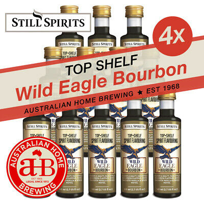 4 PACK Still Spirits Top Shelf Wild Eagle Bourbon spirit making home brew