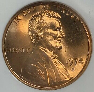 1974 S Ngc Ms66Rd Red Lincoln Memorial Cent Priced To Sell Pq **Make An Offer**