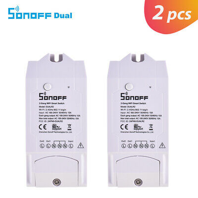 Sonoff Dual R2 Smart WiFi Switch APP Remote Timer Wireless Controller T2I3