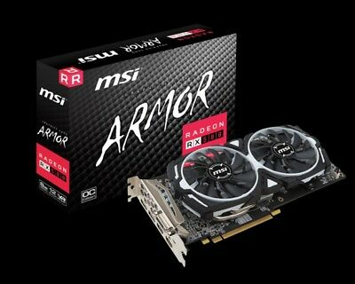 Pre-Owned MSI Radeon RX 580 Armor 8GB OC Gaming Mining GDDR5 HDMI Graphic Card