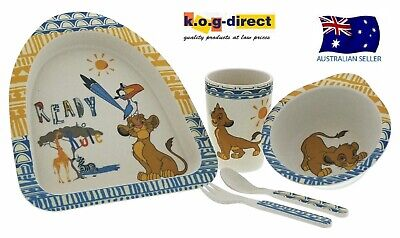5 Piece Disney Enchanting Simba Organic Dinner Set Eco Freindly The Lion King