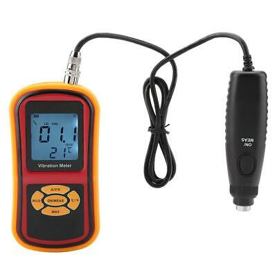 GM63B Portable Mini LCD Display Digital Vibration Meter with Probe 10Hz-1KHz