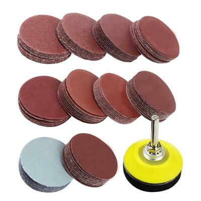 2 inch 100PCS Sanding Discs Pad Kit for Drill Grinder Rotary Tools with Bac R5T6