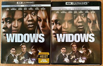 Widows 4K Ultra Hd Blu Ray 2 Disc Set + Slipcover Sleeve Free World Shipping