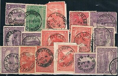 TASMANIA • Selection of CDS postmarks on Pictorials (15)