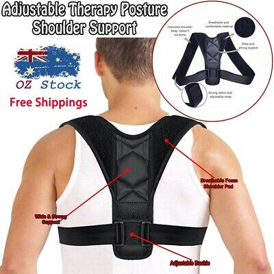 Adjustable Therapy Posture Corrector Clavicle Support Back Shoulders Brace Strap