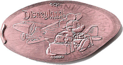 Traveling Mickey Disney Grand Californian Hotel Elongated Penny (Copper)