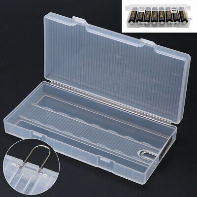 Portable Plastic Hard PP Case Storage Holder Box With Hook For 8x 18650 Battery